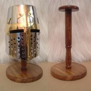 Mini Crusader Helmet and Stand